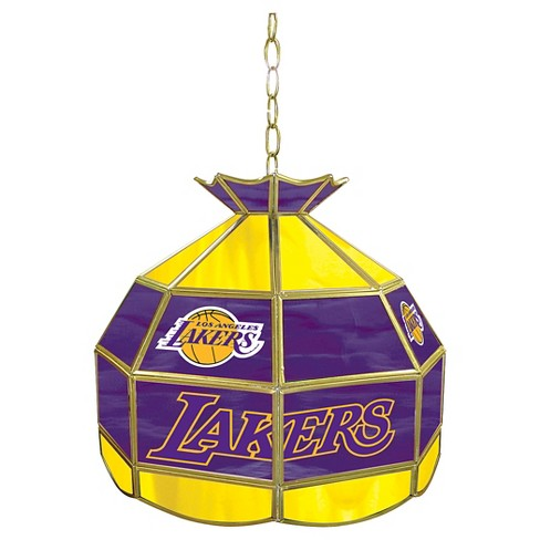 Los Angeles Lakers Tiffany Style Lamp - 16 inch - image 1 of 1