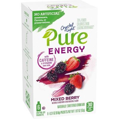 Crystal Light Pure Mixed Berry Energy Mix - 6pk/1.8oz