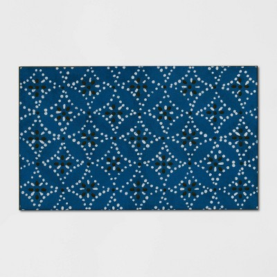 1'6 X2'6 /18 X30  Shibori Doormat Blue - Threshold™