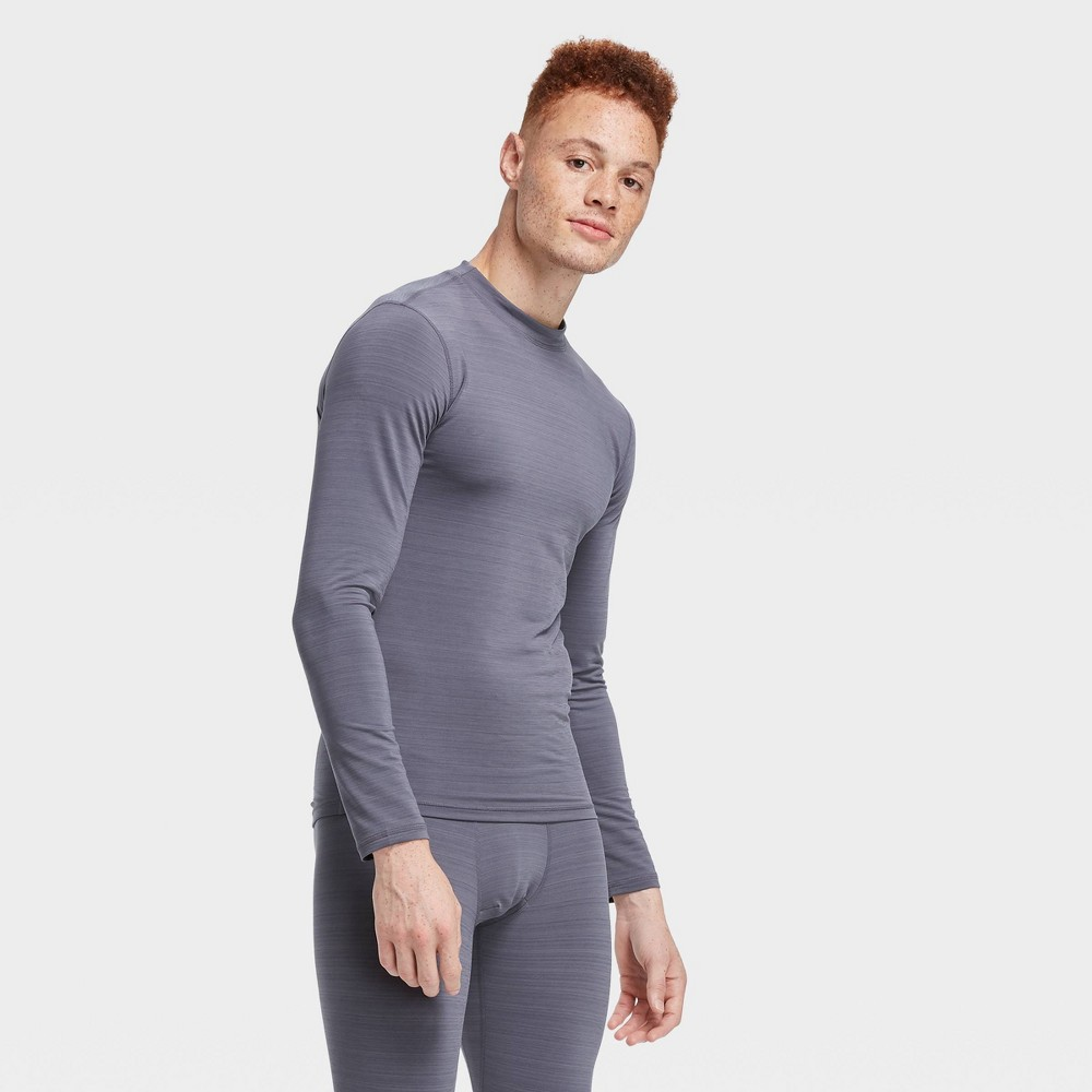 Men's Long Sleeve Fitted Cold Mock T-Shirt - All in Motion Gray L was $22.0 now $11.0 (50.0% off)