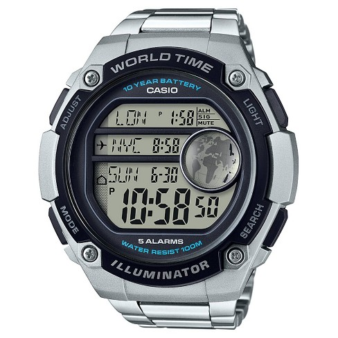 Men's Casio AE3000WD-1AV Digital Watch - Silver - image 1 of 1