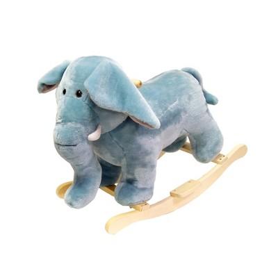 Toy Time Elephant Plush Rocking Animal