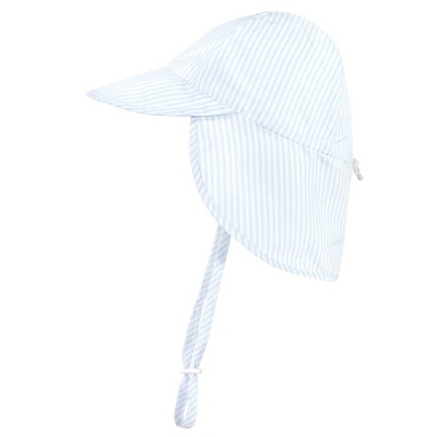 Hudson Baby Infant and Toddler Boy Sun Protection Hat, Blue Stripe