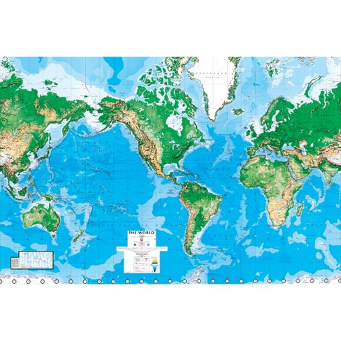 "World Map Wall Mural - 8'8""x13'0"" - image 1 of 2"