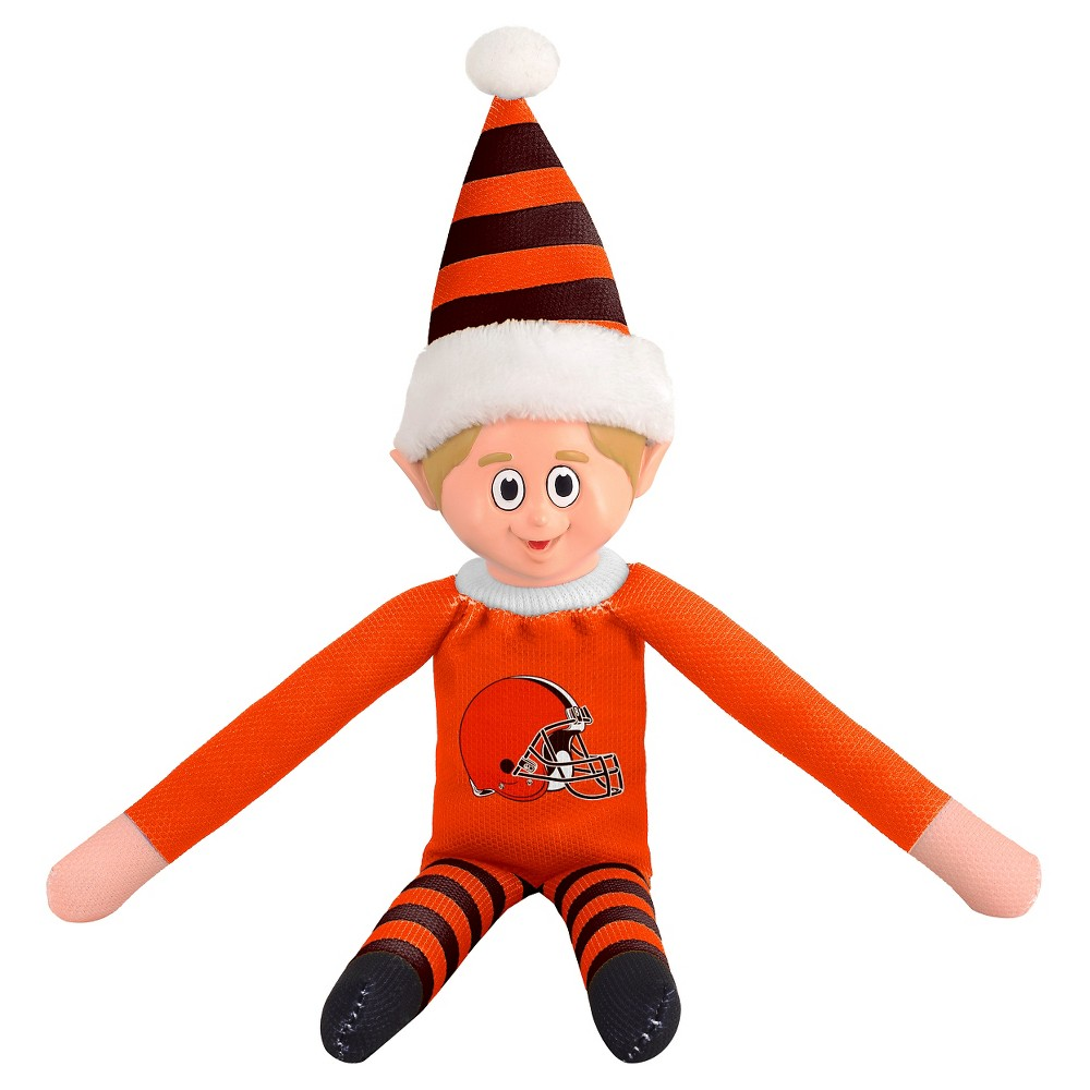 Forever Collectibles Cleveland Browns Holiday Elf Forever Collectibles - NFL Team Elf, Cleveland Browns - This Forever Collectibles Team Elf with provide hours of joy and holiday cheer for all. This officially licensed elf is sporting your favorite team's logo on his sweatshirt and a Santa hat for the season. Start a new tradition this year with your 2015 team elf! Age - 3 and up. Team elf is approximately 14 inches tall.
