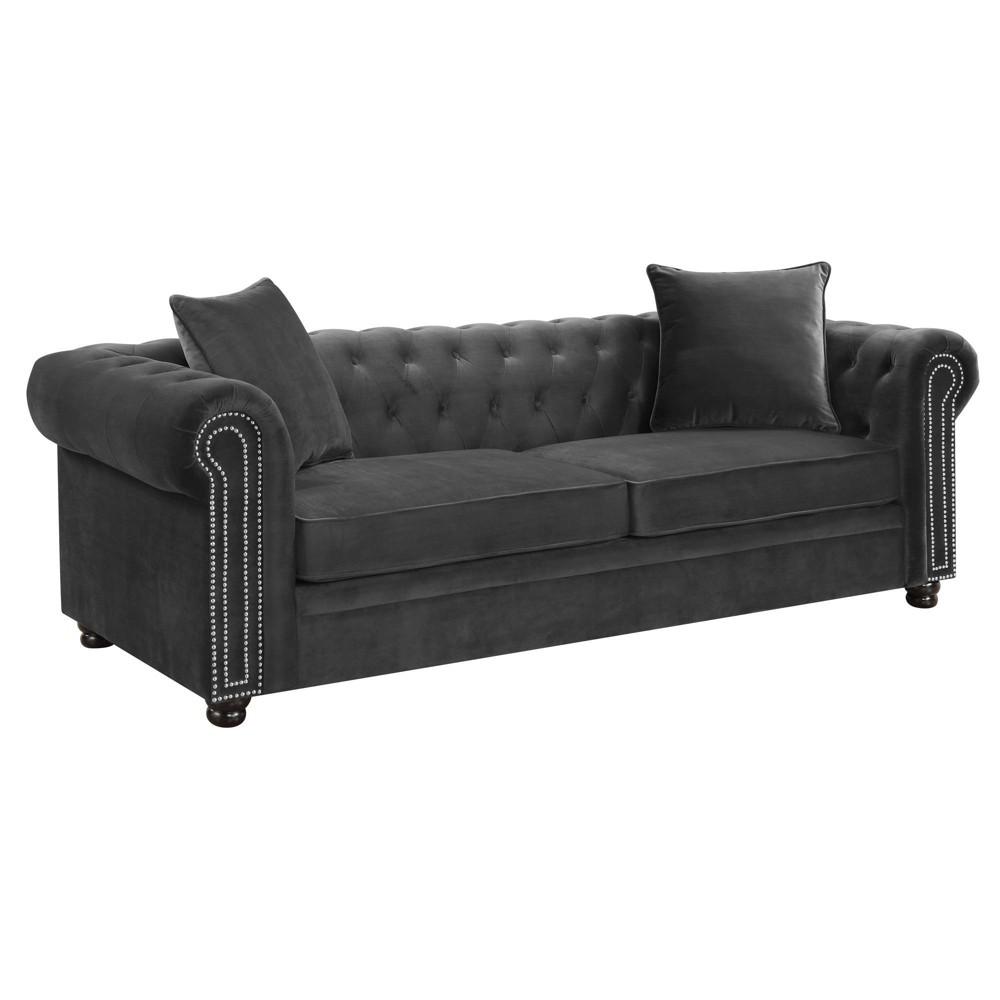 Image of 2pc Gramercy Tufted Living Room Set Slate - Picket House Furnishings