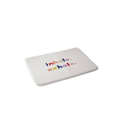 Urban Wild Studio Inhale Exhale Memory Foam Bath Mat - Deny Designs