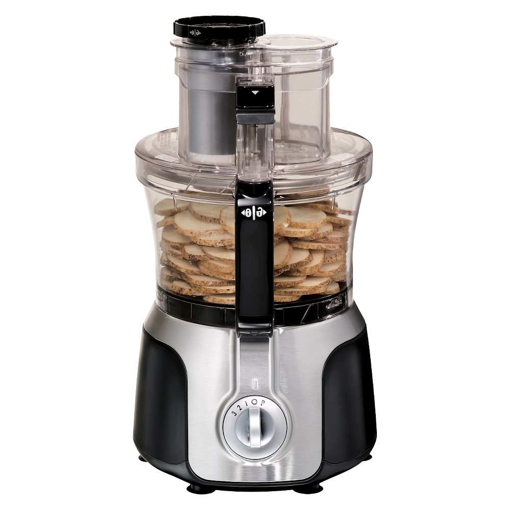 Hamilton Beach Big Mouth 14 Cup Duo Bowl Food Processor - Black 70579