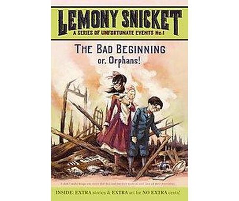 The Bad Beginning ( A Series of Unfortunate Events) (Reprint) (Paperback) by Lemony Snicket - image 1 of 1