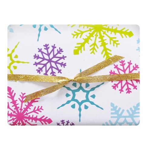 meant to be sent® Festive Flakes Luxe Gift Wrap 3 ct - image 1 of 1