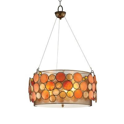 OK Lighting Capiz Shell Pendent Lamp