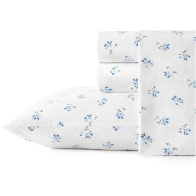 Printed Pattern Percale Cotton Sheet Set - Stone Cottage
