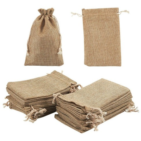 24 Pieces Burlap Jewelry Pouches With Drawstring Reusable Natural Burlap Gift Bags For Diy Crafts And Wedding Party Favor Target