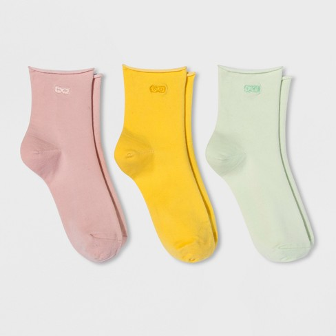 Women's Socks Pair of Thieves 3pk Pink Yellow Mint 4-10 - image 1 of 2