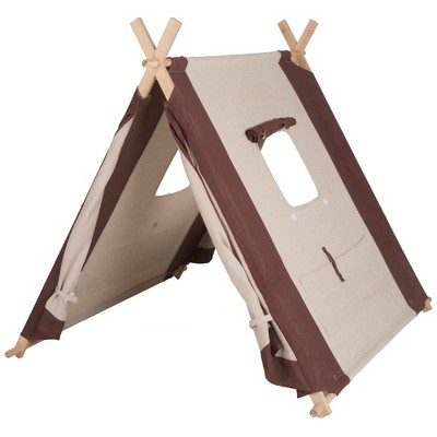 """Pacific Play Tents Natural Linen A Frame Kids Play Tent 45"""" x 42"""""""