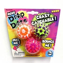 Kess Mini Bouncy Drop Dots Balls - 3pk