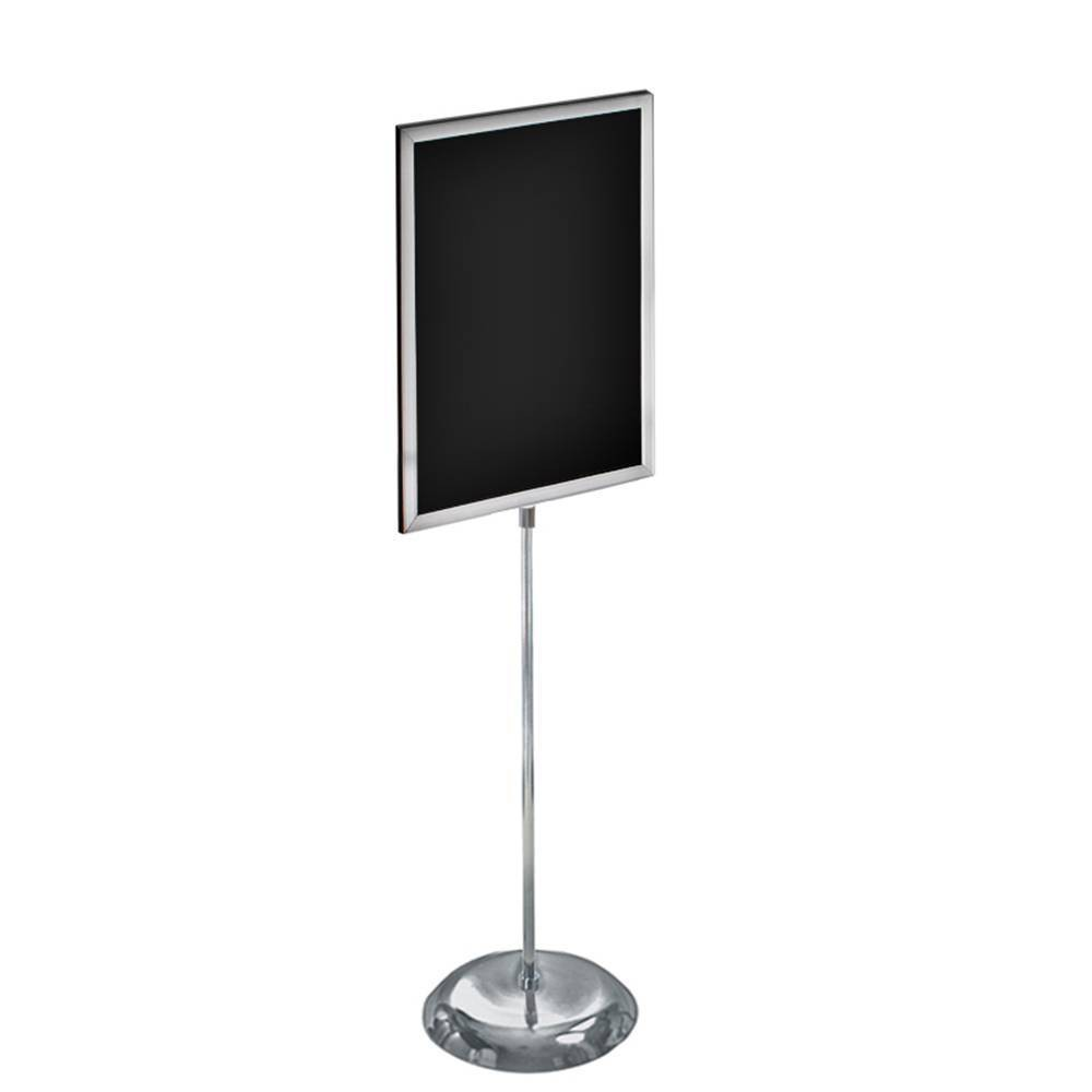 Azar Displays 22 X 28 2 Sided Slide In Floor Stand On Chrome Base