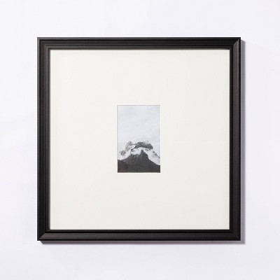 """15"""" x 15"""" Matted to 4"""" x 6"""" Gallery Frame Art Black - Threshold™ designed with Studio McGee"""