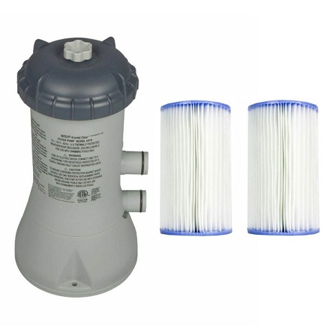 Intex 1000 GPH Easy Set Above Ground Swimming Pool Filter Pump System + Filters - image 1 of 4
