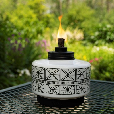Folklore Glass Tabletop Outdoor Torch - TIKI