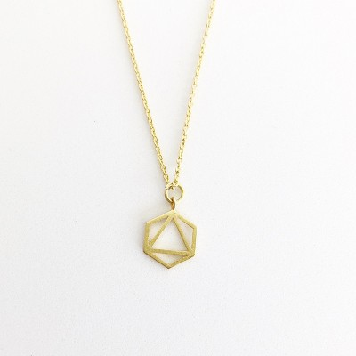 Sanctuary Project Geo Charm Necklace Gold