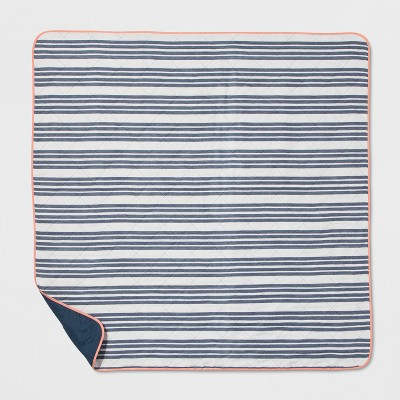 Blue Stripe Picnic Blanket - Threshold™