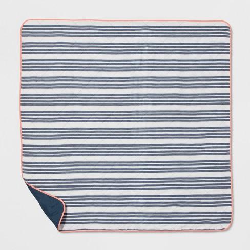 Blue Stripe Picnic Blanket Threshold