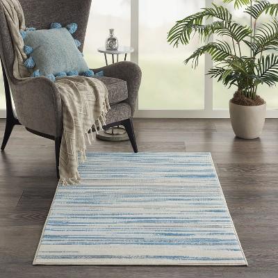 Nourison Jubilant JUB04 Blue Indoor Area Rug : Target