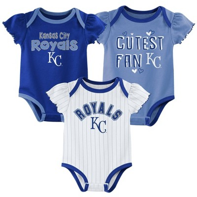 MLB Kansas City Royals Baby Girls' 3pk Bodysuit Set