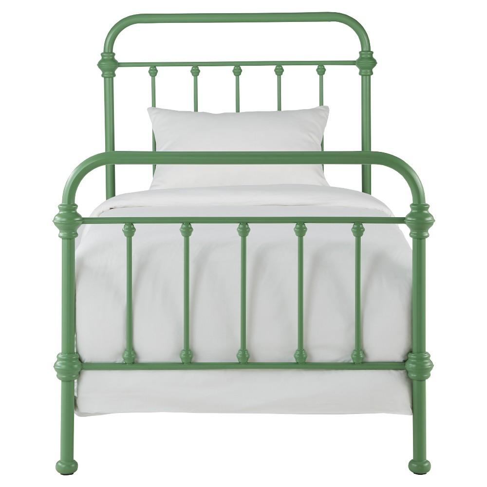 Tilden Ii Vintage Metal Bed - Twin - Spring Green - Inspire Q