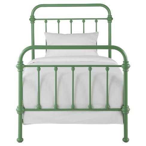 Tilden Ii Vintage Metal Bed - Twin - Spring Green - Inspire Q - image 1 of 4