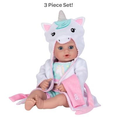 Adora Baby Bath Toy Unicorn, 13 inch Bath Time Doll with QuickDri Body