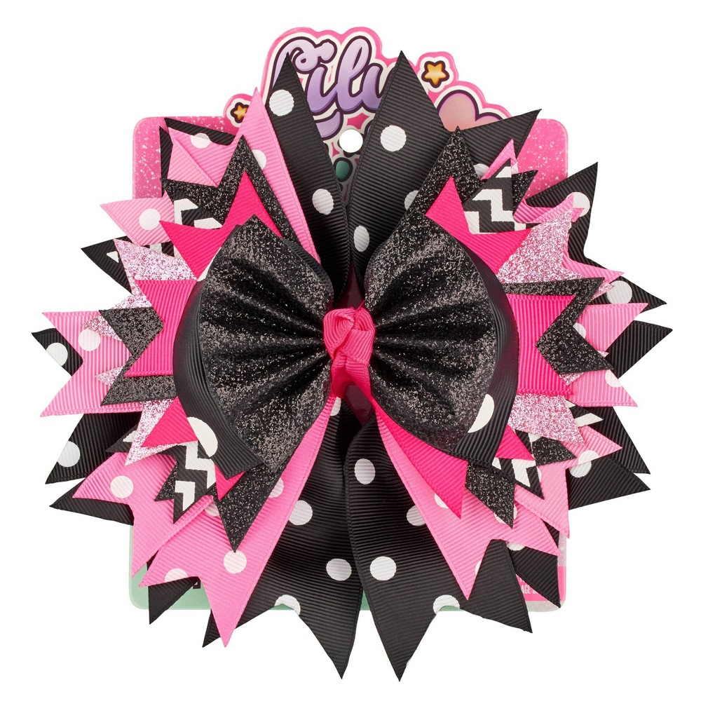 Image of Lily Frilly Hair Bow - Black