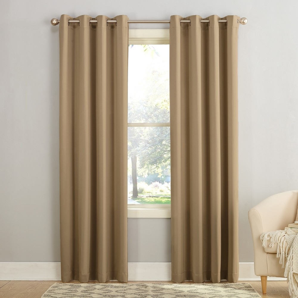 95 34 X54 34 Seymour Energy Efficient Grommet Room Darkening Curtain Panel Taupe Sun Zero