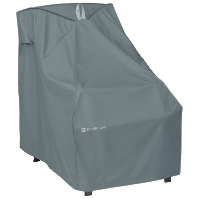 Storigami Easy Fold High Back Chair Cover Monument Gray - Classic Accessories