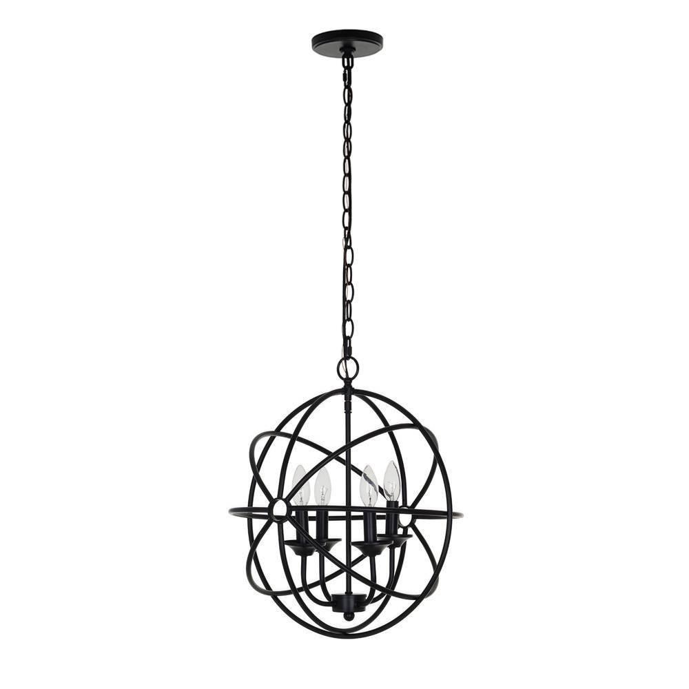 Image of Four Light Orb Pendant Bronze - Cresswell Lighting
