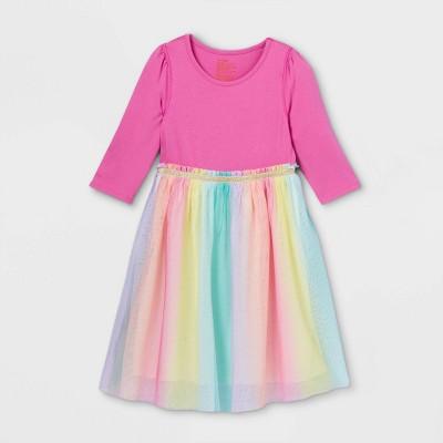 Girls' Adaptive Abdominal Access Tutu Dress - Cat & Jack™ Pink