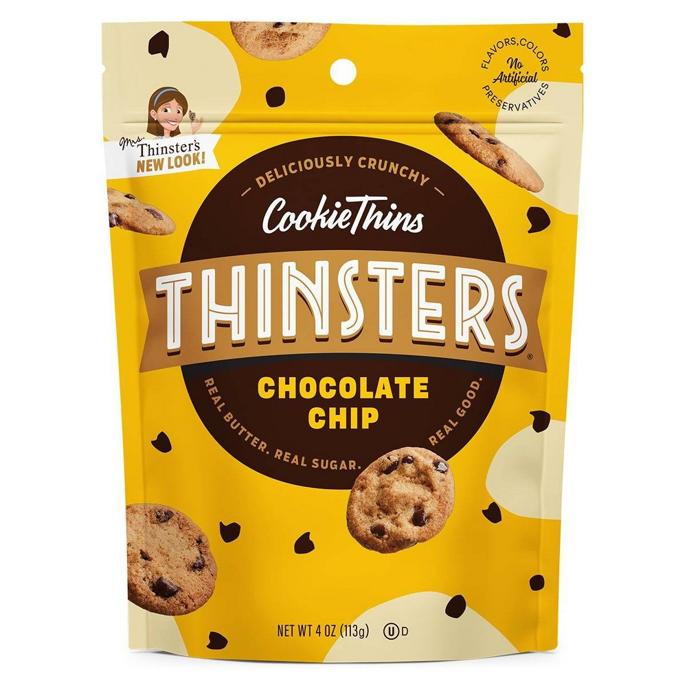Mrs Thinster's Chocolate Chip Cookie Thins - 4oz