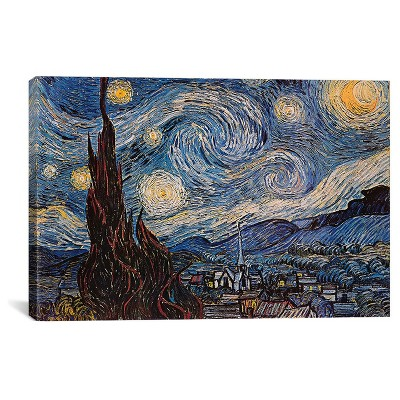The Starry Night by Vincent Van Gogh Canvas Print (18 x26 )