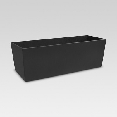 4  Recycled Rectangular Planter - Black - Smith & Hawken™