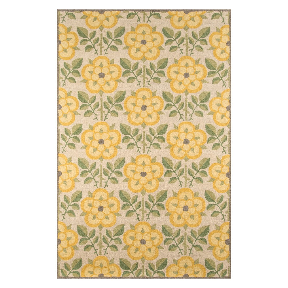 8'X10' Floral Tufted Area Rug Yellow - Momeni