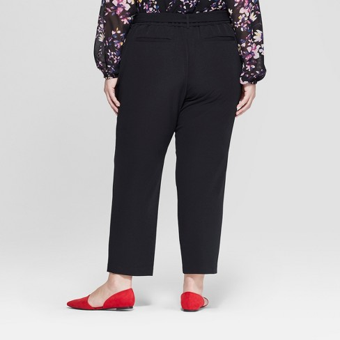 bc21c2651df5b Women s Plus Size Tapered Ankle Pants With Belt - Ava   Viv™   Target