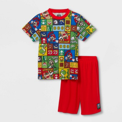 Boys' Nintendo Mario 2pc Pajama Set - Red