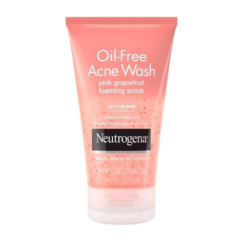Neutrogena Oil-Free Acne Wash Pink Grapefruit Foaming Scrub - 4.2 fl oz - image 1 of 4