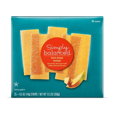 Mango Fruit Strips - 12.5oz - Simply Balanced™