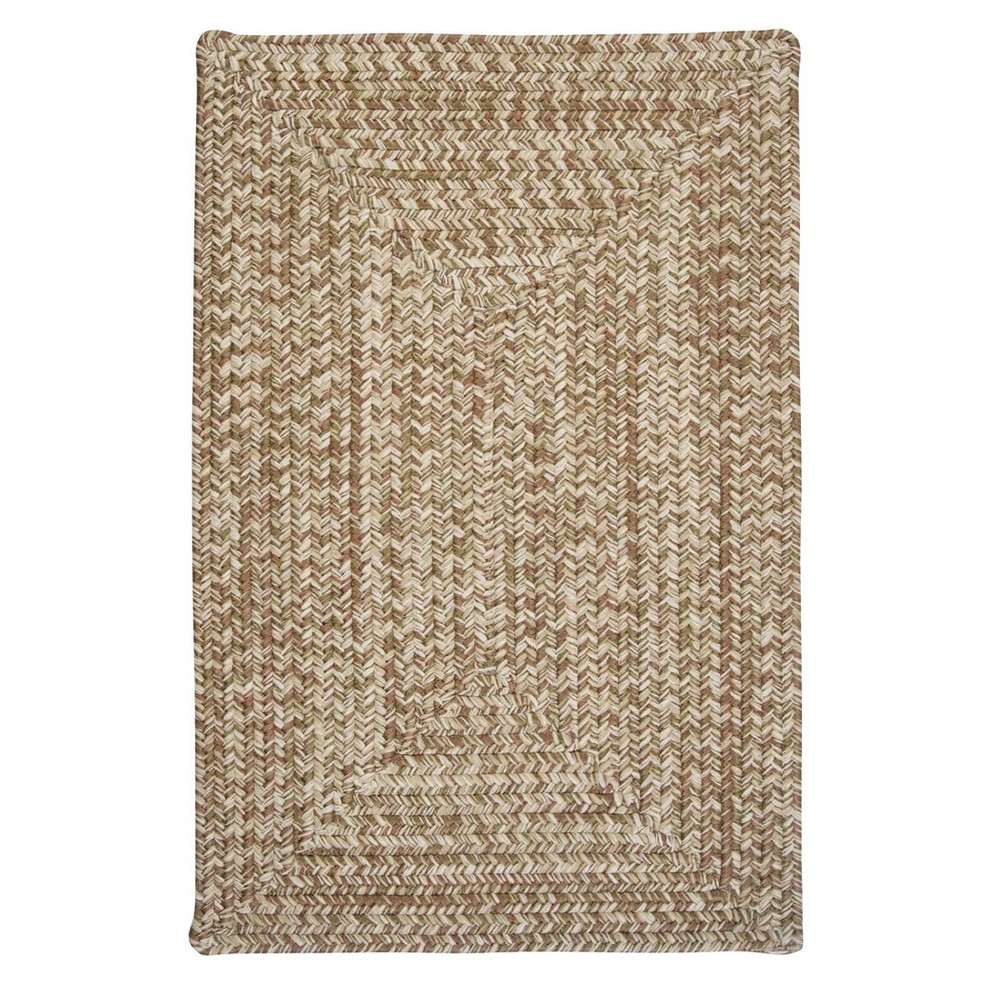 Forest Tweed Braided Area Rug Moss Green