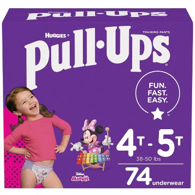 Girl Huggies Pull-Ups Trainers Night Nappy Size 5-6+ 36 BIG KID Training Pants Size 2-4 Years