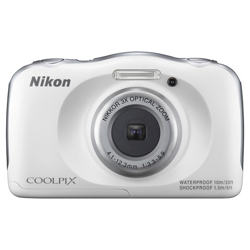 Nikon COOLPIX S33 13.2MP Waterproof Digital Camera with 3x Zoom - White - image 1 of 4