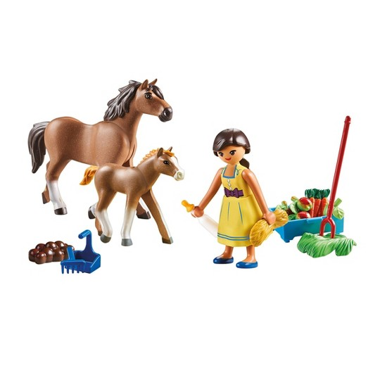 Playmobil Spirit Riding Free Pru with Horse And Foals image number null