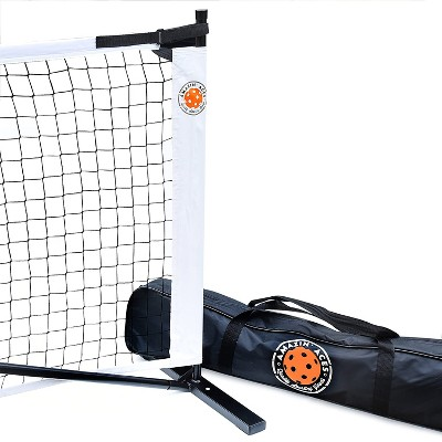 Amazin' Aces Portable Regulation Size Pickleball Net with Easy-Snap Metal Frame, Tension Strap, and Carry Bag